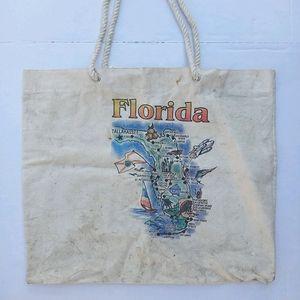 VINTAGE FLORIDA LARGE TOTE